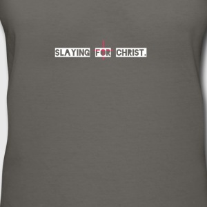 Slaying for Christ - Women's V-Neck T-Shirt