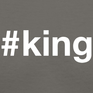 King - Hashtag Design (White Letters) - Women's V-Neck T-Shirt