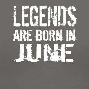 Legends are born in June - Women's V-Neck T-Shirt