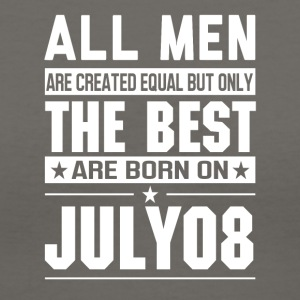 The Best Men Are Born On July 08 - Women's V-Neck T-Shirt