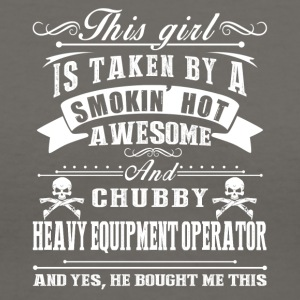 Smokin Hot Awesome Heavy Equipment Operator Shirt - Women's V-Neck T-Shirt