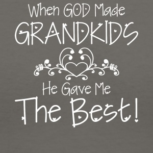 When God Made Grandkids He Gave Me The Best Shirt - Women's V-Neck T-Shirt