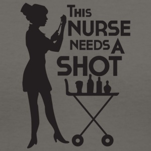 This Nurse Needs A Shot T Shirt - Women's V-Neck T-Shirt