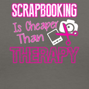 Scrapbooking Therapy Tee Shirt - Women's V-Neck T-Shirt