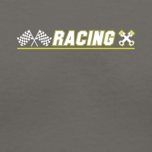 Cool Graphic Racing Tee Shirts - Women's V-Neck T-Shirt