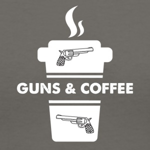 Guns and coffee - Women's V-Neck T-Shirt