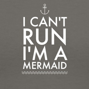 I can't run I'm a mermaid - Women's V-Neck T-Shirt