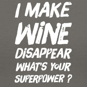 I make wine disappear what's your superpower ? - Women's V-Neck T-Shirt