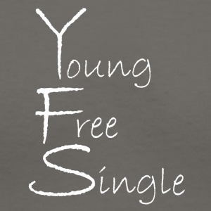 Young Free Single from Bent Sentimenta - Women's V-Neck T-Shirt