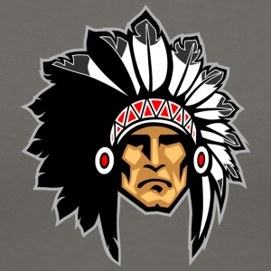 rock_face_indian_chief - Women's V-Neck T-Shirt