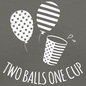 Two Balls One Cup - Women's V-Neck T-Shirt