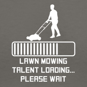 Lawn Mowing Talent Loading - Women's V-Neck T-Shirt
