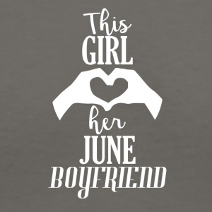 This Girl loves her June Boyfriend - Women's V-Neck T-Shirt