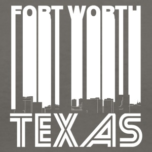 Retro Fort Worth Texas Skyline - Women's V-Neck T-Shirt