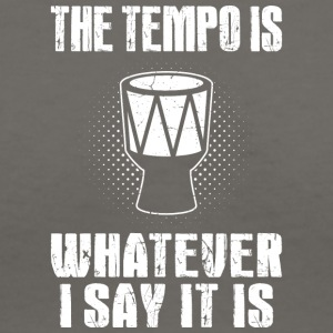 the tempo is whatever i say it is - Women's V-Neck T-Shirt