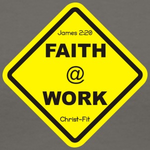 Yellow Faith at work - Women's V-Neck T-Shirt