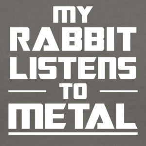 My Rabbit listens to metal - Women's V-Neck T-Shirt
