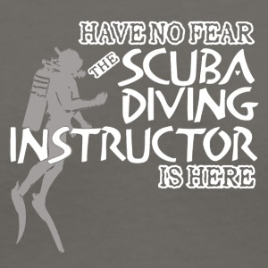 SCUBA DIVING INSTRUCTOR IS HERE SHIRT - Women's V-Neck T-Shirt