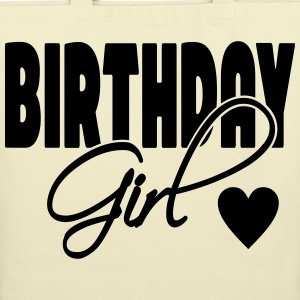 Birthday Girl with heart - Eco-Friendly Cotton Tote