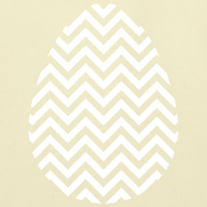Easter Egg Chevron White - Eco-Friendly Cotton Tote