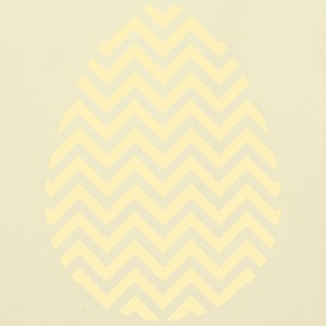 Gold Easter Egg Chevron - Eco-Friendly Cotton Tote