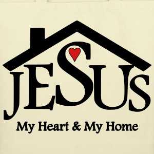 Jesus, My Heart & My Home - Eco-Friendly Cotton Tote