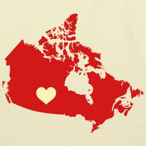 My Heart belongs in Canada - Eco-Friendly Cotton Tote