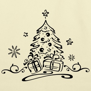 Christmas tree with gifts and stars - Eco-Friendly Cotton Tote