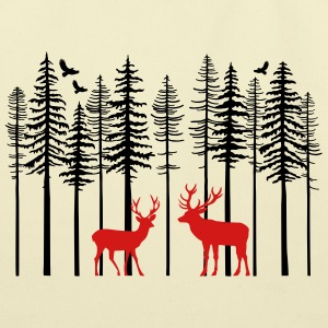 Caribou_And_Tree - Eco-Friendly Cotton Tote
