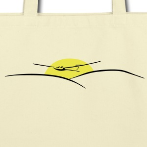 soaring pilot with sun - Eco-Friendly Cotton Tote