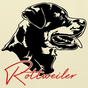 Rottweiler dog - Eco-Friendly Cotton Tote