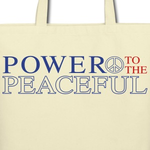 Power to the Peaceful - Eco-Friendly Cotton Tote