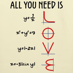All you need is love (Equations) - Eco-Friendly Cotton Tote