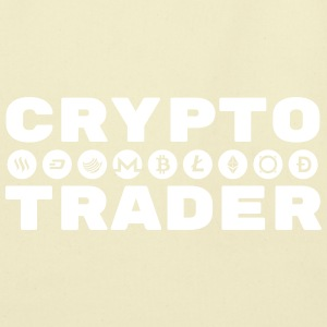 CRYPTO TRADER w/symbols (White print) - Eco-Friendly Cotton Tote
