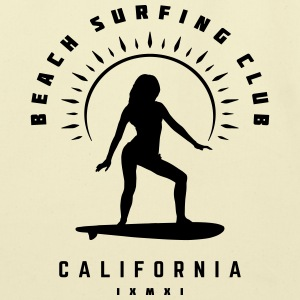 Beach Surfing Club California - Eco-Friendly Cotton Tote