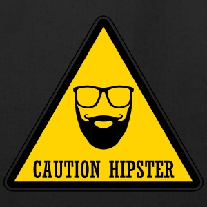 Caution Hipster Warning sign - Eco-Friendly Cotton Tote