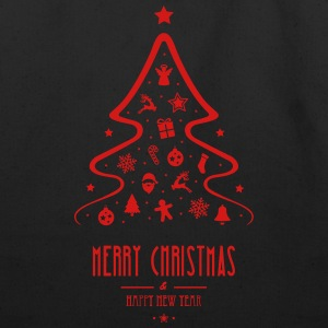 Christmas_Tree-_merry_christmas-_Happy_new_year - Eco-Friendly Cotton Tote