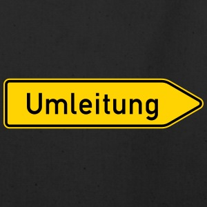 Umleitung Right - German Traffic Sign - Eco-Friendly Cotton Tote
