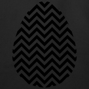 Black Easter Egg Chevron - Eco-Friendly Cotton Tote
