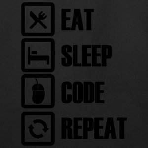 Eat sleep code repeat - Eco-Friendly Cotton Tote