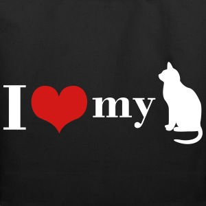 I love my Cat - Eco-Friendly Cotton Tote