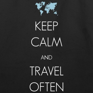 Keep calm and travel often - Eco-Friendly Cotton Tote
