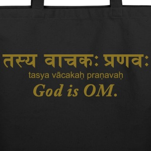 God is OM - Eco-Friendly Cotton Tote