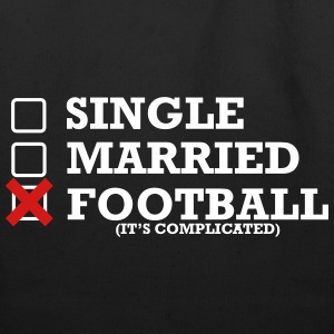 Single - Married - Football - Eco-Friendly Cotton Tote