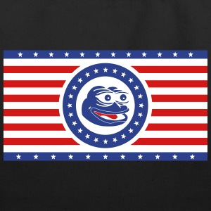 Pepe the Frog America Flag Horizontal - Eco-Friendly Cotton Tote