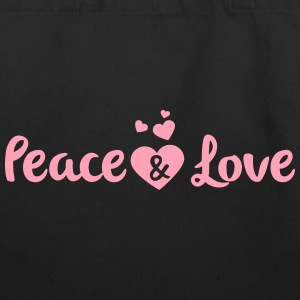 Peace & Love - Eco-Friendly Cotton Tote