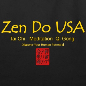 Zen Do USA logo and cell phone clothing busshist - Eco-Friendly Cotton Tote