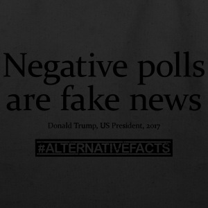 #alternativefacts tee - negative polls - Eco-Friendly Cotton Tote