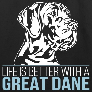 LIFE IS BETTER WITH A GREAT DANE - Eco-Friendly Cotton Tote