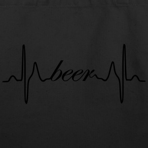Beer ECG heartbeat - Eco-Friendly Cotton Tote